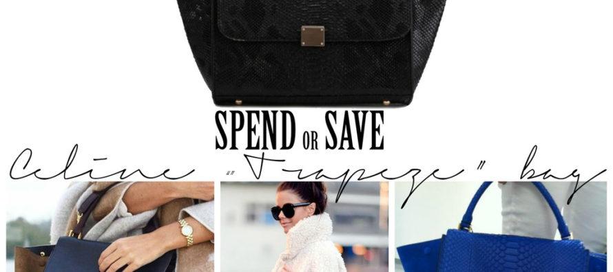 """Kuluta või säästa – Céline """"Trapeze"""" kott"""