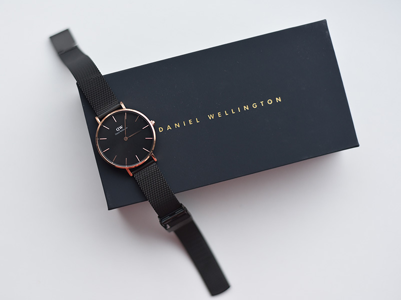 Daniel Wellington black classic petite Melrose watch - Mariliis Anger